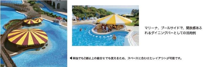 テントMシリーズ プールサイド向けテント